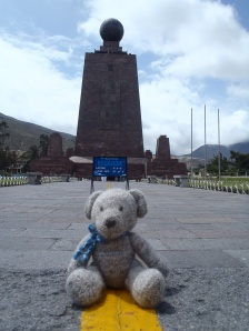 Straddling the Equator in Ecuador
